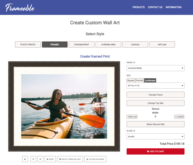 Frameable - online printing and framing
