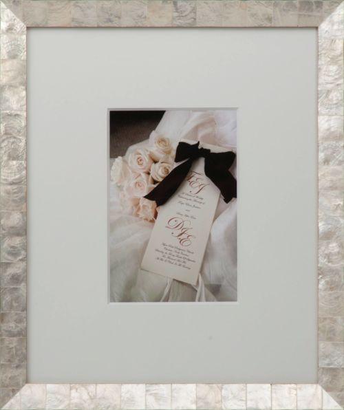 Custom framed wedding photos