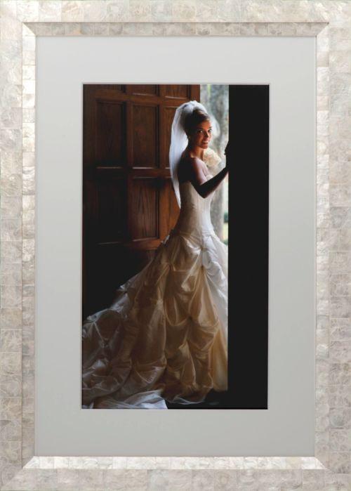 Custom framed bridal portrait